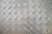 stock photo of cross-hatch  - checker plate floor surface texture steel grip metal grating - JPG