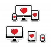 Responsive design icons - monitor, cell/mobile phone, tablet