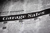 Anúncios de venda de garagem (profundidade de campo)