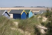 Beach Huts at Wells-next-the-Sea, Norfolk, UK.