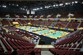 KUALA LUMPUR - JANUARY 15: Players from different nations take part in the BWF super series Maybank