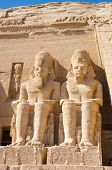 Statues of Ramesses II at Abu Simbel, Egypt