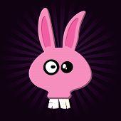 image of buck teeth  - Happy Rabbit - JPG