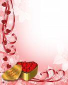 Valentine Border Hearts