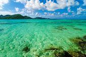 Hermosas aguas color turquesa