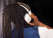 Rasta Singer With Headphones