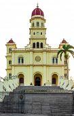 The church of El Cobre in Santiago de Cuba isolated on white