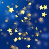 Golden Stars In Blue