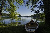 Morning Light On A Canoe