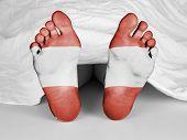 Dead Body Under A White Sheet