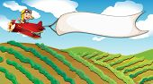 foto of riding-crop  - Illustration of a boy riding in a plane - JPG