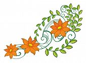 Illustration of a nice decoration on a white background