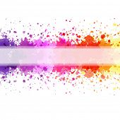 Color Blot Background, Vector Illustration