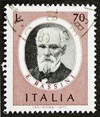 ITALY - CIRCA 1977: a stamp printed in Italy shows image of Edoardo Bassini (1844 - 1924), famous Italian surgeon. Italy, circa 1977