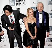 NEW YORK-SEP 27: (l-r) Actors Adam Drive, Naomi Watts and Charles Grodin are seen filming