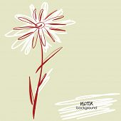art sketchy one  flower for holidays, with space for text