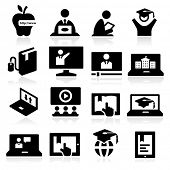 stock photo of professor  - Online Education Icons - JPG