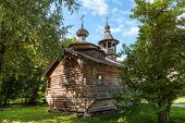 Old Wooden Orthodox Church In Novgorod, Russia.