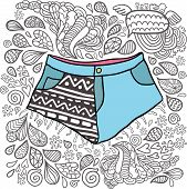 hipster shorts with doodles