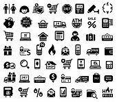 stock photo of cctv  - Shopping icons - JPG
