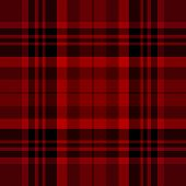 pic of tartan plaid  - Tartan traditional checkered british fabric seamless pattern black and red vector - JPG