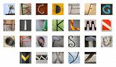 Uncommon Abstract Urban Fragments With Full English Alphabet From A To Z