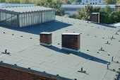 foto of roofs  - Industrial building