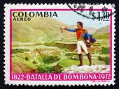 Postage Stamp Colombia 1973 Simon Bolivar, Battle Of Bombona