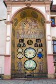 Astronomical clock in Olomouc, Czech Republic.