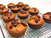 Muffins With Chocolate Drizzle