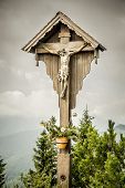 An image of a Jesus cross at Herzogstand Bavaria Germany