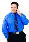 Latin American Businessman Using Mobile