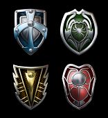 Four Steel Shields