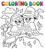Coloring book Thanksgiving image 5 - eps10 vector illustration.