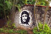 HAVANA - MAY 19: graffiti artwork of Che Guevara on wall in Havana, Cuba on May 19, 2013. Che Guevar