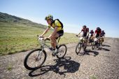 Aventura de Mountain Bike maratona no deserto