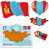 National Colours Of Mongolia