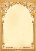 Art nouveau frame with space for text