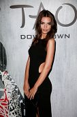 NEW YORK-SEP 28: Model Emily Ratajkowski attends the grand opening of TAO Downtown at the Maritime H