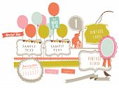 Cute Party background element