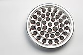 picture of communion-cup  - Communion cups with wine arranged in a metal tray - JPG