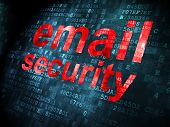 Safety concept: Email Security on digital background