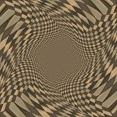 picture of distortion  - Abstract distorted checkered pattern background of brown color - JPG