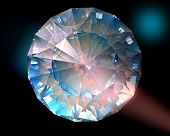 Diamante en luces de colores
