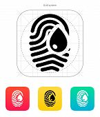 Damage fingerprint icon.