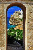 scenic Italian coast -Polignano al mare, Puglia