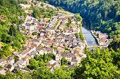 The City Of Vianden And River Our, Luxembourg