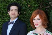 LOS ANGELES - SEP 29:  Geoffrey Arend, Christina Hendricks at the Rape Foundation Annual Brunch at G
