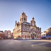 Постер, плакат: The Renaissance Style City Hall Of Delft Holland