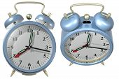 Blue Alarm Clock - Angle 3 And 4